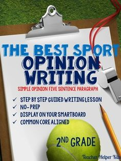 Guided Opinion Writing Lesson