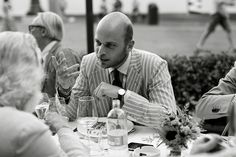 Striped Linen Suit, The Sartorialist Dinner, Florence