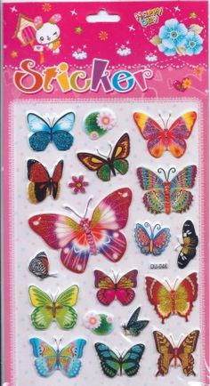 Butterflies - Pentique Stationers - Puffy Stickers
