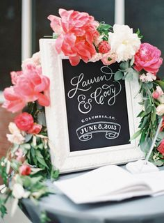 Custom Wedding Chalkboard by LaurenHarring on Etsy