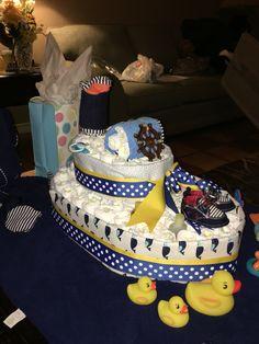 My first boat diaper cake