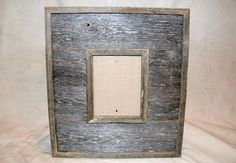 Reclaimed Barnwood Picture Frame that holds by PieceofHomeDecorMN