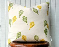 Block print pillow covers. Sustainably made with sustainable organic cotton. Made to order. Custom colours and sizes. Makeup Storage Bag, Sustainable Textiles, Fabric Bins, Decor Pillows, Decorative Pillow Covers, Cotton Canvas, Sustainability, Organic Cotton, Indoor