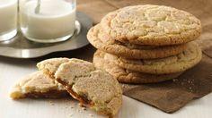 Caramel Apple Snickerdoodles. Dulce de leche is the secret ingredient that gives these cookies their gooey hidden center.