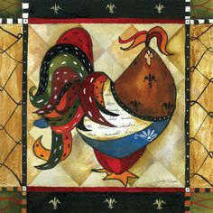 Tuscan Rooster I Art Print at AllPosters.com
