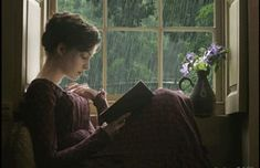 by a rainy day.scene from the movie Becoming Jane Austen I Love Books, Good Books, Books To Read, My Books, Jane Austen, Lifestyle Fotografie, Becoming Jane, Love Rain, Woman Reading