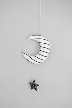 Christmas Discount Mobile Moon and Star/ Black and White