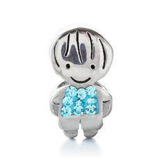 Boy Crystal Bead Charm - Hallmark