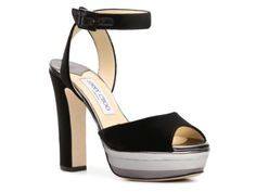 Jimmy Choo Levir Suede Platform Sandal. Exactly what I'm looking for for the summer! #DSW #Luxe810