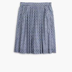 Pull-on skirt in gingham clip dot
