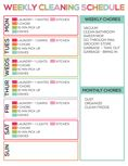 Customizable Cleaning Schedule (download printables)