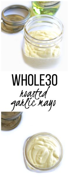 Roasted Garlic Mayo - whole30 approved and so tasty! Love this healthy mayo as a starter for sauces and dips!