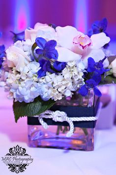 Blue and White Nautical Centerpiece