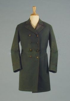 Coat 1875, American, Made of wool