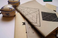 notebook moleskine lozenge geometric by ftillustrations on Etsy