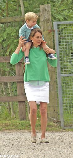 Prince George really loves the petting zoo! The royal spent a sweet afternoon at Bucklebury Farm Park in Berkshire, England, with his grandmother Carole Middleton last week Carole Middleton, Middleton Family, William Kate, Prince William, Duke William, William Arthur, Duchess Kate, Duchess Of Cambridge, Catherine Cambridge