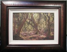 John Milenkovic original Australian oil titled  Rainforest Australian Bush, Blue Mountain, Trees, Oil, The Originals, Frame, Artist, Picture Frame, Tree Structure