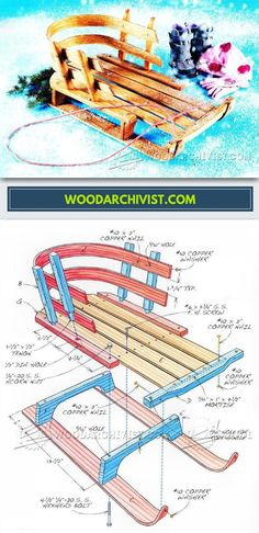 DIY Wooden Sled - Children's Outdoor Plans and Projects | WoodArchivist.com