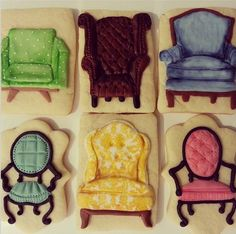 Chair cookies by The Cocoa Cakery