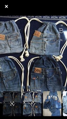 Diy Jeans, Backpack Pattern, Denim Crafts, Patchwork Bags, Old T Shirts, Denim Bag, Handmade Bags, Diy Fashion, Diy Clothes
