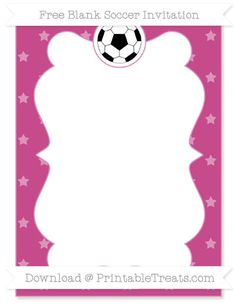 Free Mulberry Purple Star Pattern Blank Soccer Invitation