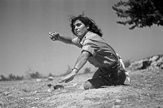 60 Years of Israel            Back      1 of 16    During the War of Independence, 1948, a woman receives basic training in grenade throwing