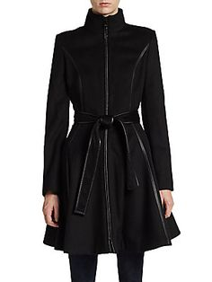 Saks Fifth Avenue OFF 5TH FERGIE SEAMED & BELTED COAT