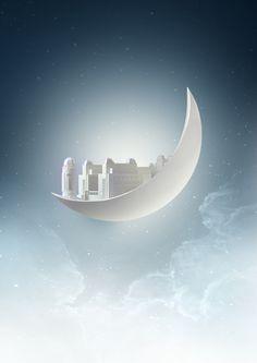 Ramadan on Moon on Behance
