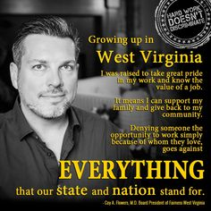 Dr. Coy A. Flowers, Fairness WV Board President explains what it means to deny LGBT West Virginians fairness laws at work!