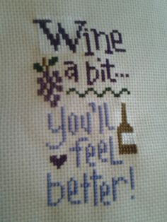 Lizzie kate finish 4-4-13 Lizzie Kate, Cross Stitch Kitchen, Simple Cross Stitch, Wine Craft, Cross Stitch Pictures, Christmas Cross, Crossstitch, Friends Forever, Cross Stitching