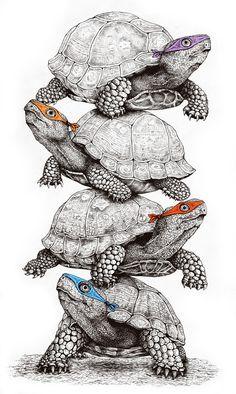 TMNT - Teenage Mutant Ninja Turtles. Or in this case, TNNT - Teenage Normal Ninja Turtles