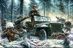 "On December 26, 1944, the first spearhead units of the Third Army's 4th Armored Division reached Bastogne, opening a corridor for relief and resupply of the besieged forces. Patton's ability to disengage six divisions from front line combat during the middle of winter, then wheel north to relieve Bastogne was one of his most remarkable achievements during the war. He later wrote that the relief of Bastogne was ""the most brilliant operation we have thus far performed"" George Patton, North Africa, Antique Cars, Dan, Battle, Monster Trucks, Two By Two, The Unit, December 26"