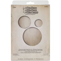 Sizzix Movers & Shapers Magnetic Dies by Tim Holtz® - Circles