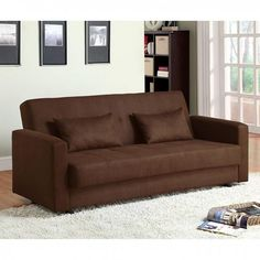 The Furniture of America Jansen Futon gives you more than you could hope for in a piece of furniture. Las Vegas Furniture Online | LasVegasFurnitureOnline | Lasvegasfurnitureonline.com