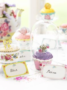 floral wedding cupcake wrappers and toppers