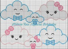 This Pin was discovered by sev Baby Cross Stitch Patterns, Cross Stitch Baby, Cross Stitch Designs, Crochet Patterns, Cross Stitching, Cross Stitch Embroidery, Baby Motiv, Broderie Simple, C2c Crochet