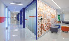 Inside JetBlue's glassy LEED EB-certified headquarters in Long Island City, Queens