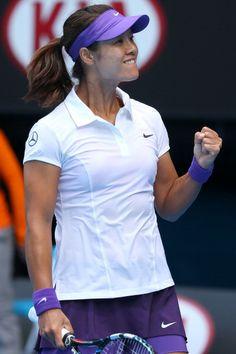#Li Na of China celebrates winning her third round match on day five #ausopen