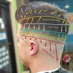 2018 Андеркат мужская стрижка фото со всех сторон для парикмахера технология стрижки