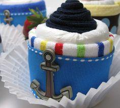 washcloth/diaper cupcake