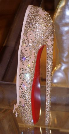christain louboutin ballet heels. WOW HOW would anyone ever be able to walk in these?