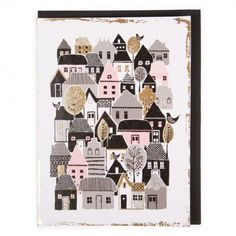 Houses and trees card