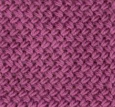 Braided stitch: explanation in French Crochet Wool, Tunisian Crochet, Crochet Granny, Knitting Designs, Knitting Projects, Knitting Patterns, Crochet Patterns, Knitting Stiches, Loom Knitting