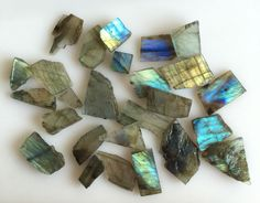 231CT NATURAL LABRADORITE ROUGH SLICE GEMS FLASHY LOOSE LOT RAW MINERAL SPECIMEN…