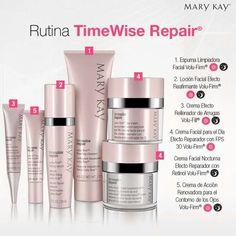Paso a paso retrocede el tiempo en tu piel mañana y noche con la línea TimeWise Repair©. Visita mi web site oficial: www.marykay.com/belkyspena7