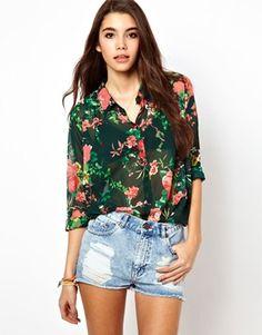 Bild 1 von Only – Noelle – Hemd mit Blumenmuster