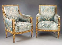 french tapestry upholstery fabric | ... Baptiste-Claude Sené. Gilded beechwood with lampas upholstery fabric