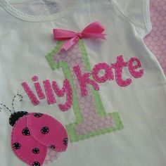 Think SPRING... Personalized Ladybug by cuteasabuttondesigns, $20.00