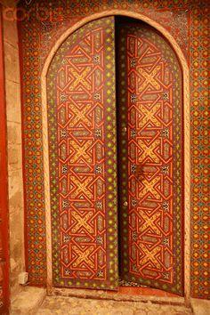 Africa | Ornate Doorway.  Essaouira, Morocco | ©Owen Franken