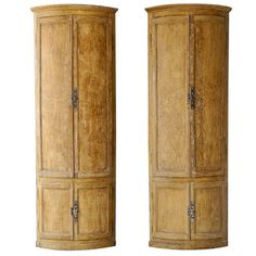 Pair 18th c. Corner Cabinets from a French Boiserie